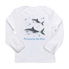 Personalized Shark Long Sleeve Infant T-Shirt