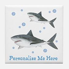 Personalized Shark Tile Coaster