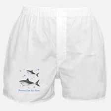 Personalized Shark Boxer Shorts