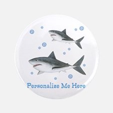 "Personalized Shark 3.5"" Button"
