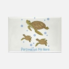 Personalized Sea Turtles Rectangle Magnet