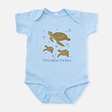 Personalized Sea Turtles Infant Bodysuit