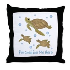 Personalized Sea Turtles Throw Pillow