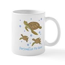 Personalized Sea Turtles Small Small Mug