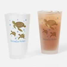 Personalized Sea Turtles Drinking Glass