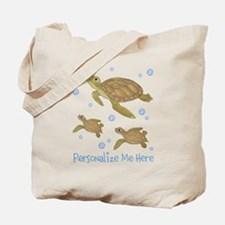 Personalized Sea Turtles Tote Bag