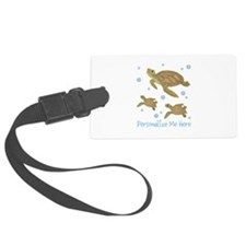 Personalized Sea Turtles Luggage Tag