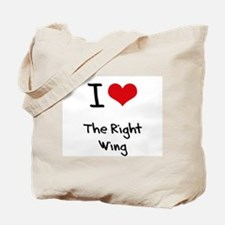 I Love The Right Wing Tote Bag