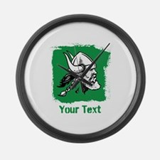 Viking with Custom Text. Large Wall Clock
