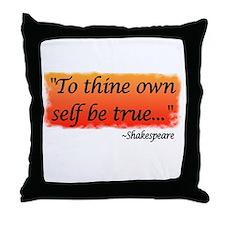 Hamlet: To Thine Own Self be Throw Pillow
