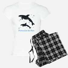 Personalized Killer Whale Pajamas