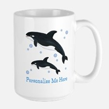 Personalized Killer Whale Large Mug