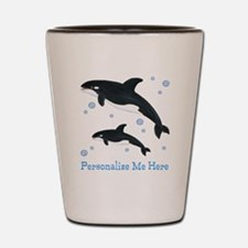 Personalized Killer Whale Shot Glass