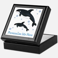 Personalized Killer Whale Keepsake Box