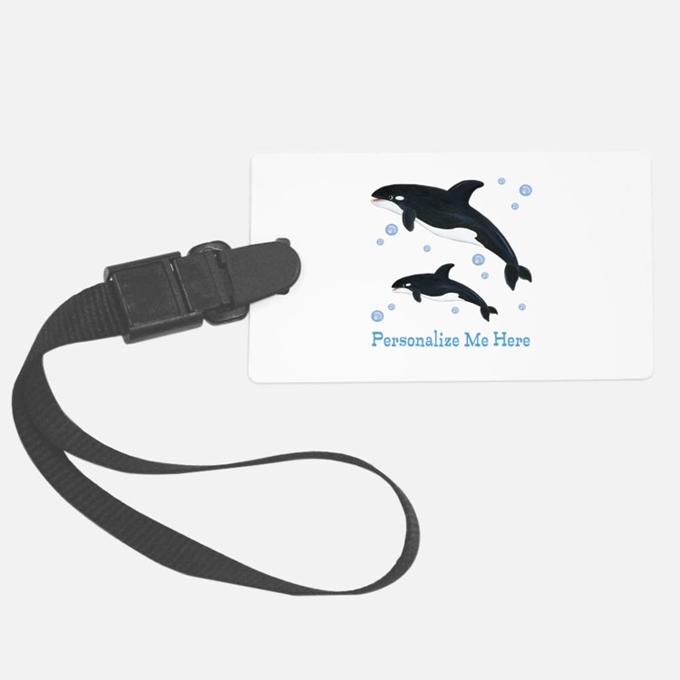 Personalized Killer Whale Luggage Tag