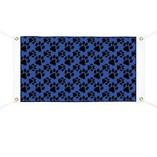 Dog Paws Royal Blue Banner