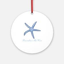 Personalized Starfish Ornament (Round)