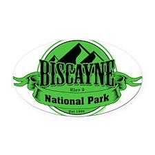 biscayne 5 Oval Car Magnet