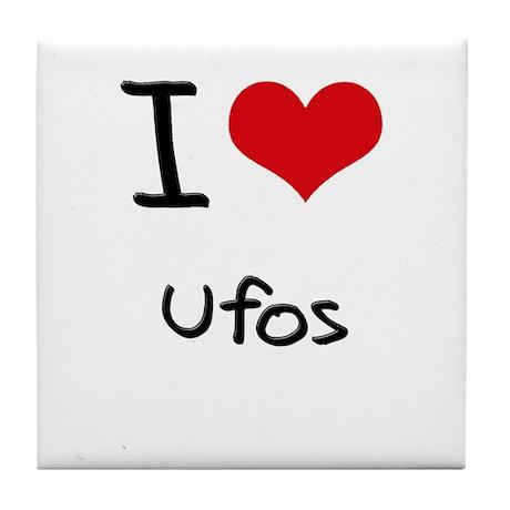 I Love Ufos Tile Coaster