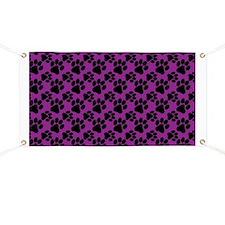 Dog Paws Purple Banner