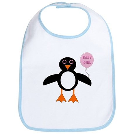 Cute New Baby Girl Penguin Bib