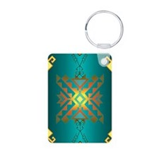 Sun In Winter Blanket Design Keychains
