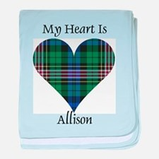 Heart - Allison baby blanket