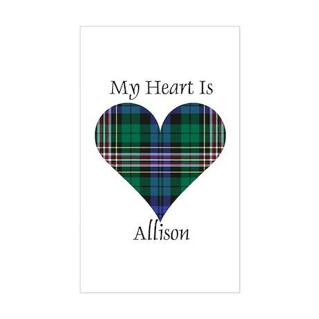 Heart - Allison Sticker (Rectangle)