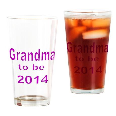 Grandma to be 2014 2 Drinking Glass