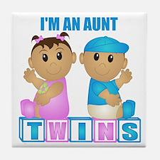 I'm An Aunt (TBG:blk) Tile Coaster