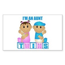 I'm An Aunt (TBG:blk) Rectangle Decal