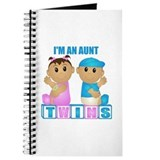 New aunt of twins Journals & Spiral Notebooks