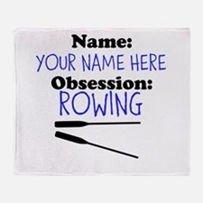 Custom Rowing Obsession Throw Blanket