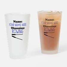 Custom Rowing Obsession Drinking Glass