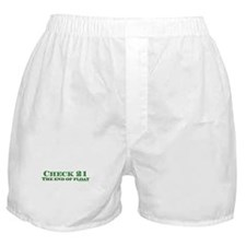 Check 21 The End of Float Boxer Shorts