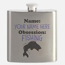Custom Fishing Obsession Flask