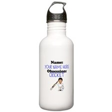 Custom Cricket Obsession Water Bottle