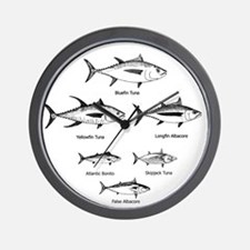 Tuna Species Logo Wall Clock