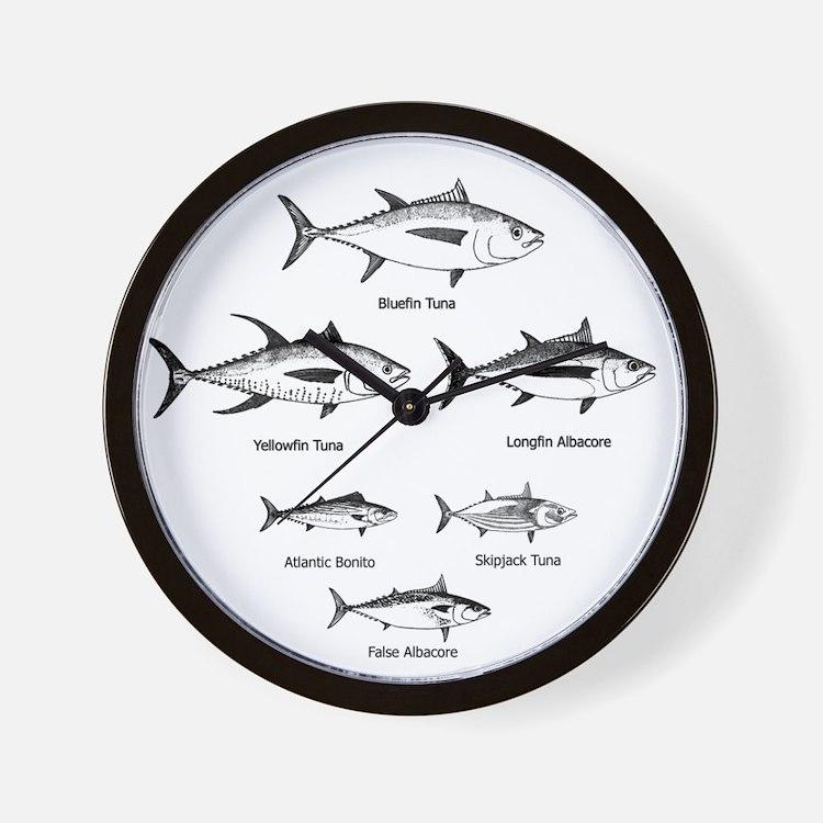 Tuna Species Logo Wall Clock