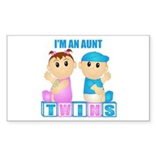 I'm An Aunt (PBG:blk) Rectangle Decal