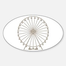 Ferris Wheel Sticker (Oval)