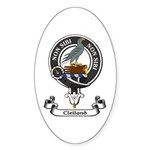 Badge - Clelland Sticker (Oval 10 pk)