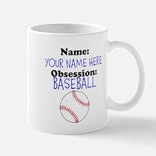 Custom Baseball Obsession Mug