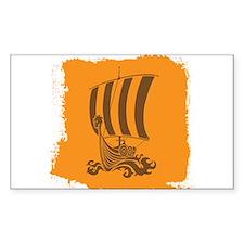 Orange and Brown Viking Design. Decal
