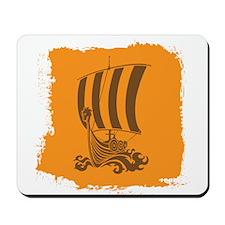 Orange and Brown Viking Design. Mousepad
