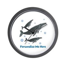 Personalized Humpback Whale Wall Clock