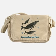 Personalized Humpback Whale Messenger Bag