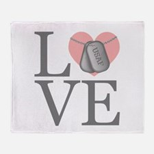 USAF Love Throw Blanket