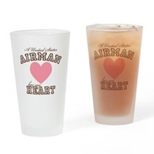 A U.S. Airman has my heart Drinking Glass