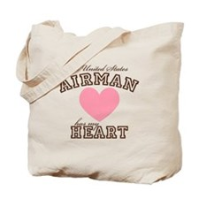 A U.S. Airman has my heart Tote Bag